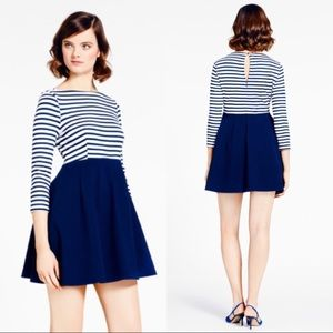 NWT Kate Spade Space Stripe Selma Navy Dress 12
